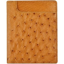 Genuine ostrich leather wallet OSW2-700A Tan