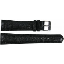 Genuine ostrich leather watch band OSWB001 Black