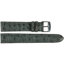 Genuine ostrich leather watch band OSWB001 Grey
