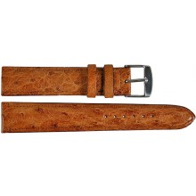 Genuine ostrich leather watch band OSWB001 Peanut