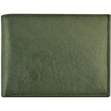Genuine cow leather wallet P6 Black
