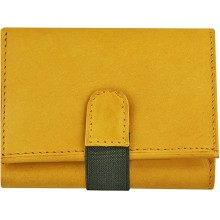 Genuine cow leather wallet P9 Tan