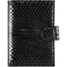 Genuine python leather passport wallet PANW50PT Black