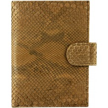 Genuine python leather passport wallet PANW50PT Brown
