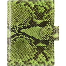 Genuine python leather passport wallet PANW50PT Green