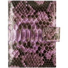 Genuine python leather passport wallet PANW50PT Light Violet