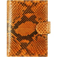 Genuine python leather passport wallet PANW50PT Orange