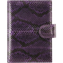 Genuine python leather passport wallet PANW50PT Violet