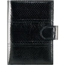 Genuine snake leather wallet PANW50SSN Black