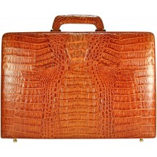 Genuine alligator leather attache case JBCP-G Tan
