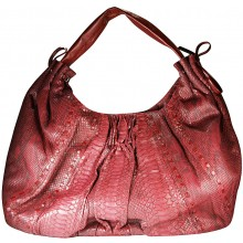 Genuine python snake leather bag PBG871PT Matte Burgundy