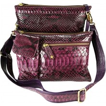 Genuine python snake leather bag PBG895PT-G Violet