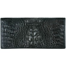 Genuine alligator leather wallet PCM011 Black