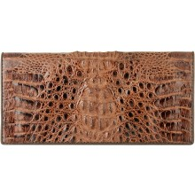 Genuine alligator leather wallet PCM011 Brown