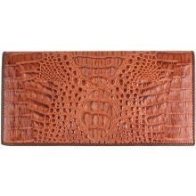 Genuine alligator leather wallet PCM011 Tan