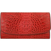 Genuine alligator leather wallet PCM03 Red