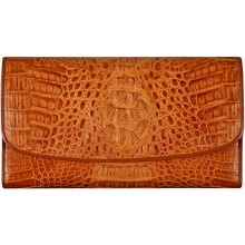 Genuine alligator leather long wallet PCM03 Tan