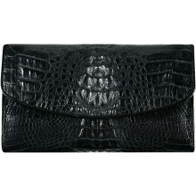 Genuine alligator leather wallet PCM05 Black