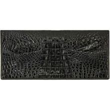 Genuine alligator leather wallet PCMM012 Black