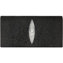 Genuine stingray leather wallet PK274 Black