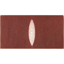 Genuine stingray leather wallet PK274 Burgundy