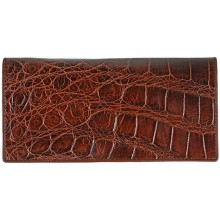 Genuine crocodile leather wallet PPSS011 Brown