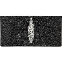 Genuine stingray leather wallet PR011 Black