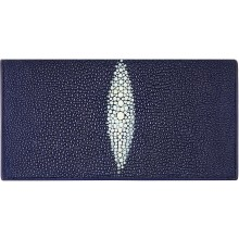 Genuine stingray leather wallet PR011 Blue