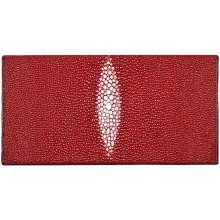 Genuine stingray leather wallet PR011 Burgundy