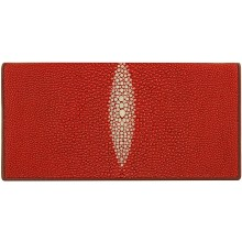 Genuine stingray leather wallet PR011 Fire Red