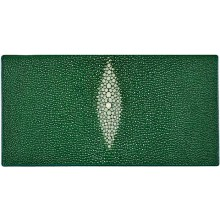 Genuine stingray leather wallet PR011 Green