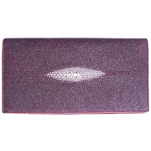 Genuine stingray leather wallet PR02 Burgundy