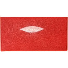 Genuine stingray leather wallet PR02 Fire Red