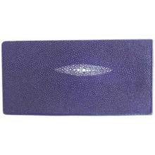 Genuine stingray leather wallet PR02 Blue