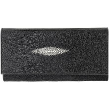 Genuine stingray leather wallet PR33 Black