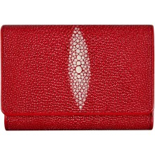 Genuine stingray leather wallet PR63 Fire Red
