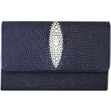 Genuine stingray leather wallet PR814 Blue