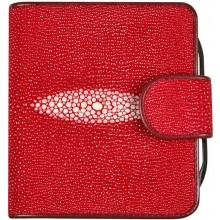 Genuine stingray leather wallet PR93 Fire Red