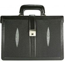 Genuine stingray leather briefcase PRS157-2-S Black