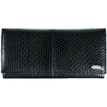 Genuine snake leather wallet PSM33 Black