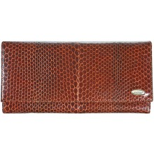 Genuine snake leather wallet PSM33 Tan