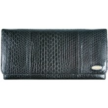 Genuine snake leather wallet PSN2 Black