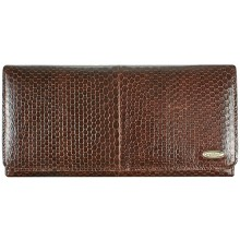 Genuine snake leather wallet PSN2 Brown