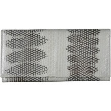 Genuine snake leather wallet PSN33E Bone