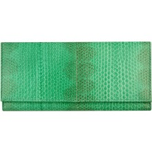 Genuine snake leather wallet PSN33E N. Green