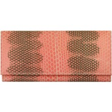 Genuine snake leather wallet PSN33E N. Pink