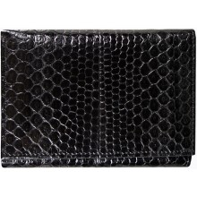 Genuine snake leather wallet PSN95 Black