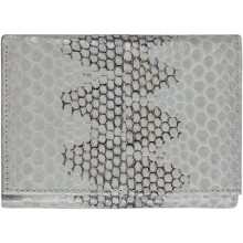 Genuine snake leather wallet PSN95 Bone