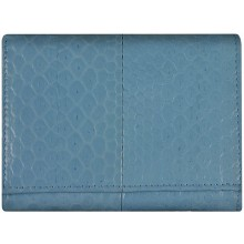Genuine snake leather wallet PSN95 M.Blue