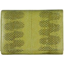 Genuine snake leather wallet PSN95 Yellow